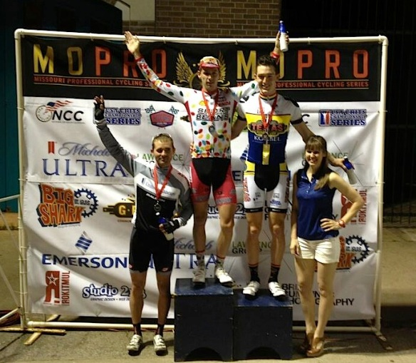 Adam Leibovitz on the podium at the Midtown Grand Prix